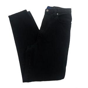 Vtg Sasson Jeans High Waist Straight Black 13/14
